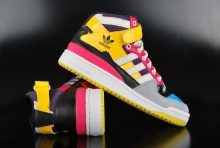 Adidas Originals Forum Mid Yellow White Black Pink Sneaker