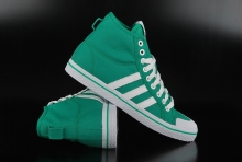 Adidas Originals Honey Stripes Mid Fresh Green Run White...