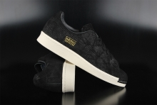 Adidas Originals Superstar 80s Clean Black Off White Sneaker