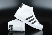 Adidas Pro Model White Core Black Sneaker B-Ware