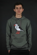 Cleptomanicx Gull 2 Heather Dusty Olive Hoodie