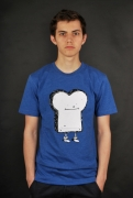 Cleptomanicx Toast Heather Soda Blue T-Shirt