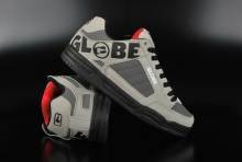 Globe Tilt Grey Black Red Skaterschuhe