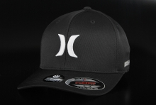 Hurley Dri-Fit Flexfit One & Only Black BKW Cap