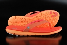 Hurley Phantom Nike Free Damen Sandale Neon Pink Orange