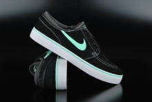 Nike Air Zoom Stefan Janoski Black Green Glow Anthracite...