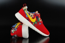 Nike Roshe One Print University Red Tour Yellow Sneaker