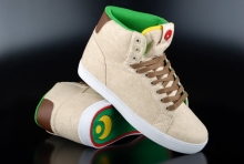 Osiris Grounds Schuhe Tan Brown White High-Top Sneaker