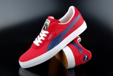 Puma Schuh GV Vulc Low City Ribbon Red Medieval Blue...