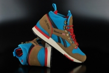 Reebok GL 6000 Mid Thatch Blue Red Sneaker
