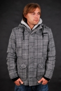 Sublevel Herren Wolljacke Grey Heather