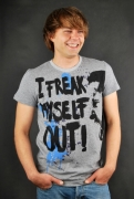 Sublevel T-Shirt Freak Out Grey Melange