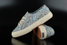 Superga Cotw Fabric Flowered Blue Azul Sneaker
