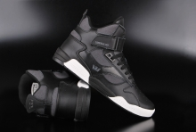 Supra Bleeker Black Charcoal White High Top Sneaker