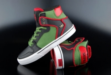 Supra Kids Sneaker Vaider Black Forest Green White