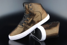 Supra Womens Cuttler Sneaker Black Gold White
