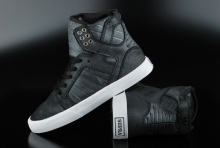 Supra Womens Skytop Black Metallic White