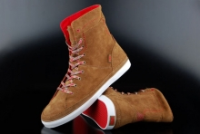 Vans Damen Sneaker Shilo Weather Suede Tan True Red