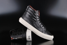 Vans Sk8-Hi Slim Zip (Croc Leather) Black