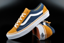 Vans Style 36 Slim Amber Gold Dark Denim Sneaker