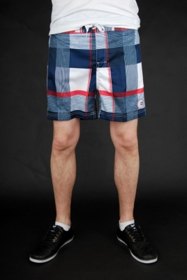 Billabong Serious Volley White Navy Badehose
