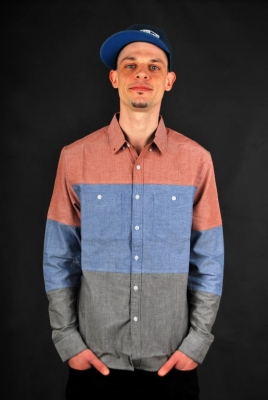 Billabong Newark Chambray LS Hemd Blue