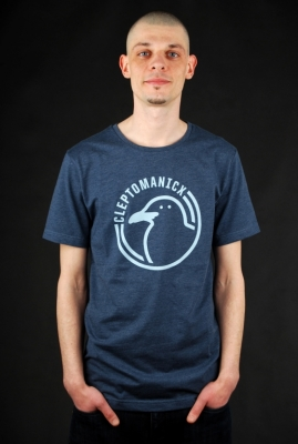 Cleptomanicx Shirt Icon Gull Heather Blue