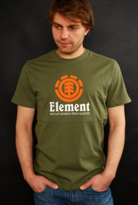 Element Vertical T-Shirt Army