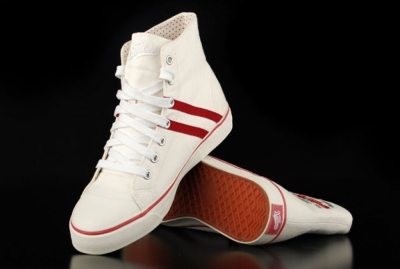 Kustom Bella White Red High-Top Sneaker