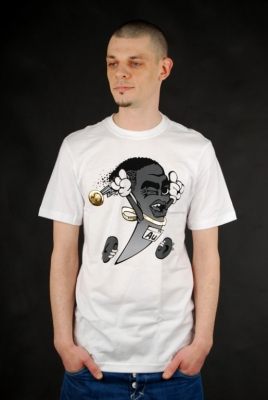 Nike T-Shirt Golden Shoe Swooshscot White