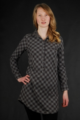 Roxy Forever Plaid Black Hemdkleid