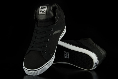 Run Nyc Schuhe Sire Hi Black Sneaker