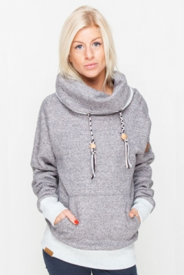 SHISHA Pullover Kroon Black Wave Melange Hooded