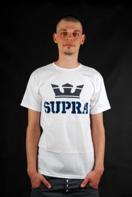 Supra T-Shirt Above White Grey