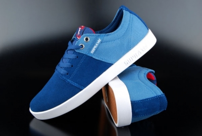 Supra Stacks Sneaker Blue/Burgundy-White