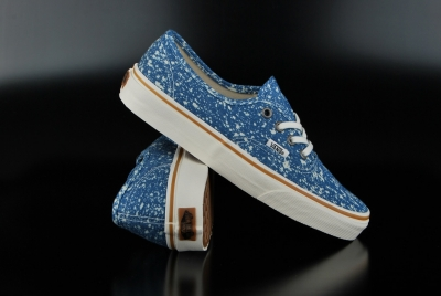 Vans Authentic Denim Splatter Blue Sneaker