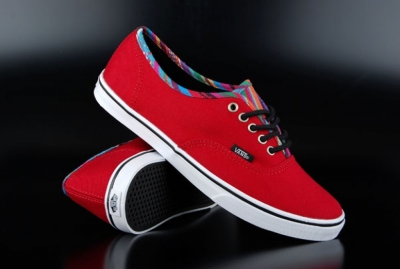 Vans Sneaker Authentic Lo Pro Stripe Binding Chili Pepper