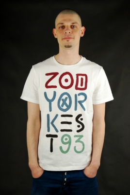 Zoo York T-Shirt Tribal Stack Bleach White
